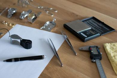 Bij het taxeren wordt divers gereedschap gebruikt